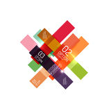 Geometric abstract background, colorful elements Stock Photo