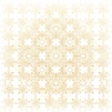 Geometric abstract background. Connected line and dots. Linear golden grid with circles in nodes. Reticulated gold. Monochrome texture illustration Stock Image