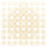 Geometric abstract background. Connected line and dots. Linear golden grid with circles in nodes. Reticulated gold. Monochrome texture. Vector illustration Royalty Free Stock Image