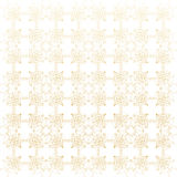 Geometric abstract background. Connected line and dots.. Linear golden grid with circles in nodes. Reticulated gold monochrome texture. Vector illustration Stock Image