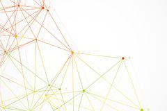 Geometric abstract background with connected line and dots. Structure molecule and communication. Scientific concept for. Your design. Medical, technology Stock Photos