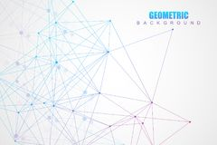 Geometric abstract background with connected line and dots. Structure molecule and communication. Scientific concept for. Your design. Medical, technology Stock Images