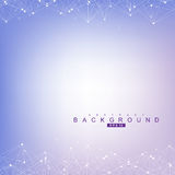 Geometric abstract background with connected line and dots. Structure molecule Stock Photo