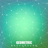 Geometric abstract background with connected line and dots. Structure molecule  Royalty Free Stock Photography