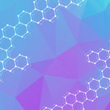 Geometric abstract background with connected line and dots. Structure molecule and communication. Scientific concept for. Your design. Medical, technology Royalty Free Stock Photos