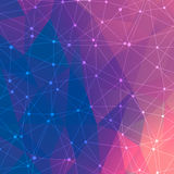 Geometric abstract background with connected line and dots. Structure molecule. And communication. Scientific concept for your design. Medical, technology Royalty Free Illustration