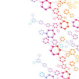 Geometric abstract background with connected line and dots. Structure molecule and communication. Scientific concept for. Your design. Medical, technology Royalty Free Illustration