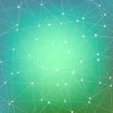 Geometric abstract background with connected line and dots. Structure molecule and communication. Scientific concept for Royalty Free Stock Images