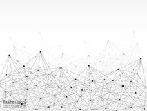 Geometric Abstract Background With Connected Line And Dots. Royalty Free Stock Photos