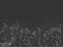 Geometric Abstract Background With Connected Line And Dots. Stock Photo