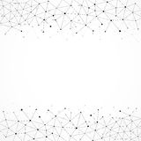 Geometric Abstract Background With Connected Line And Dots. Royalty Free Stock Images