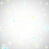 Geometric abstract background with connected lines and dots for your design.  Vector illustration Stock Image