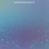 Geometric abstract background with connected lines and dots for your design.  Vector illustration Royalty Free Stock Photos