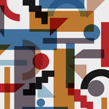 Geometric abstract background in cubism style. Vector EPS 10 Stock Photography
