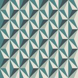 Geometric abstract background with 3d effect. Seamless pattern with reapeated triangles. Contemporary motif. Optical art. Geometric abstract background with 3d Stock Photography