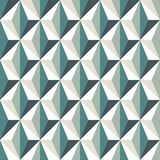 Geometric abstract background with 3d effect. Seamless pattern with reapeated triangles. Contemporary motif. Optical art. Geometric abstract background with 3d royalty free illustration