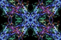 Geometric abstract background. Digital art. Stock Images