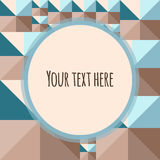 Geometric abstract background with frame for text or photos Stock Photo