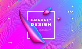 Geometric abstract background, Gradient fluid shapes. Landing page template, Trendy graphic design liquid shapes. Vector. Illustration Eps10 royalty free illustration