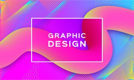 Geometric abstract background, Gradient fluid shapes. Landing page template, Trendy multicolor futuristic mobile. Backdrop, Vector digital design Eps10 royalty free illustration