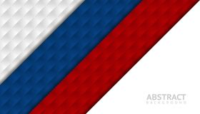 Geometric abstract background. Graphic template with Russia flag. Colors for cover design, brochure, book design, poster, wallpaper, backdrop or invitation card Royalty Free Stock Images