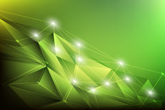 Geometric abstract background green. Glow in dark Stock Photos
