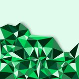Geometric abstract background in green tones Stock Image