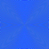 Geometric Abstract Background. Hypnosis Concept. Blue Color Concentric Circles. Illustration Graphic Design Radial. Circular. Royalty Free Stock Image