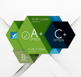 Geometric abstract background layout Stock Photography