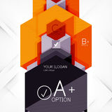 Geometric abstract background layout Royalty Free Stock Photo