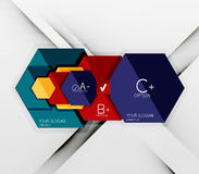 Geometric abstract background layout Stock Photo