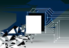 Geometric abstract background. With technical elements and triangles Royalty Free Stock Images
