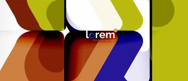 Geometric abstract background royalty free illustration