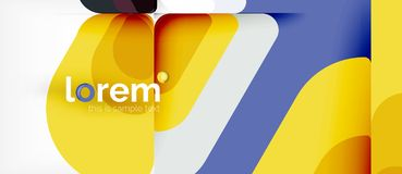 Geometric abstract background stock illustration
