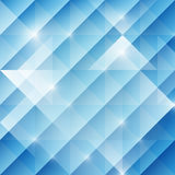 Geometric abstract background with triangles, blue tone, vector. Illustration Stock Photos