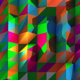 Geometric abstract background. With vibrant color made from triangles and shadows Royalty Free Stock Photo