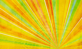 Geometric abstract background yellow orange green Stock Image