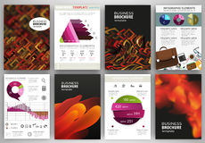 Geometric and abstract backgrounds, concept infographics and ico Stock Photos