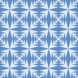 Geometric abstract blue triangles seamless pattern Stock Photo