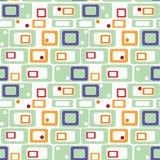 Geometric abstract bright elements kids seamless pattern retro c Stock Photography