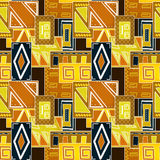 Geometric abstract bright elements seamless pattern Stock Image