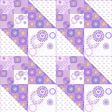 Geometric abstract bright elements seamless pattern Royalty Free Stock Image