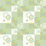 Geometric abstract bright elements seamless pattern Royalty Free Stock Photography