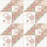 Geometric abstract bright elements seamless pattern Stock Photo
