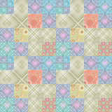 Geometric abstract bright elements seamless pattern Royalty Free Stock Photo