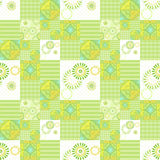 Geometric abstract bright elements seamless pattern Stock Photography