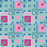 Geometric abstract bright elements seamless pattern retro backgr Stock Image
