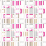 Geometric abstract bright elements seamless pattern retro colors Royalty Free Stock Images