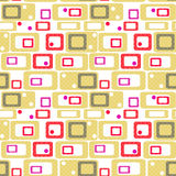 Geometric abstract bright elements seamless pattern retro colors Stock Image