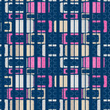 Geometric abstract bright elements seamless pattern retro colors Royalty Free Stock Photos